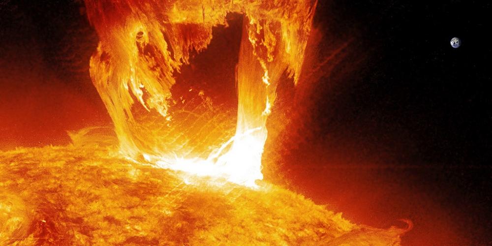 Вспышка на солнце 16 апреля