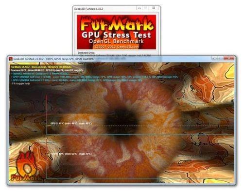 FurMark 1.10.2 - волосатый бублик