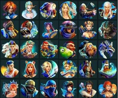 герои компьютерных онлайн игр