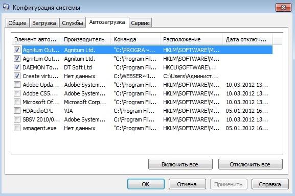Автозагрузка Windows
