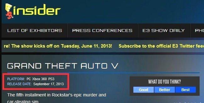 GTA 5 точная дата выхода известна